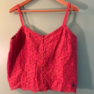 Abercrombie and Fitch eyelet button front cami
